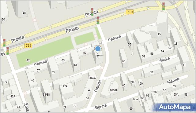 Warszawa, Pańska, 57, mapa Warszawy