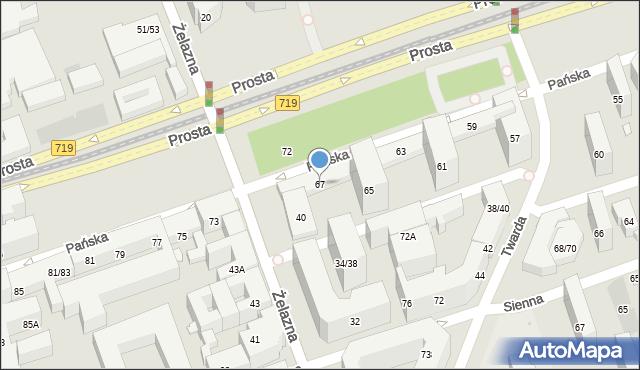 Warszawa, Pańska, 67, mapa Warszawy