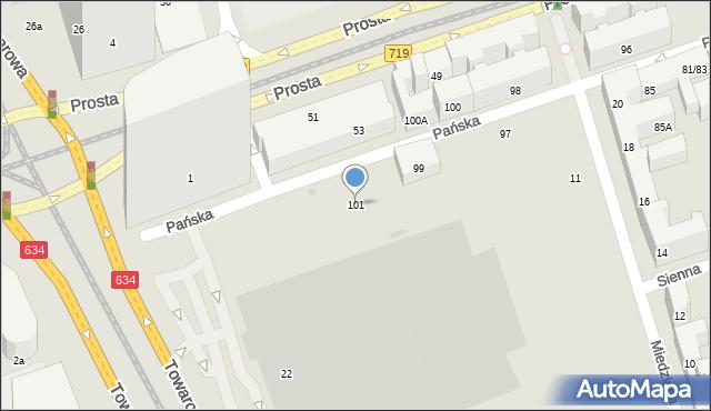 Warszawa, Pańska, 112, mapa Warszawy