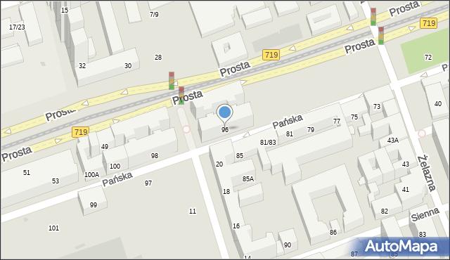 Warszawa, Pańska, 96, mapa Warszawy