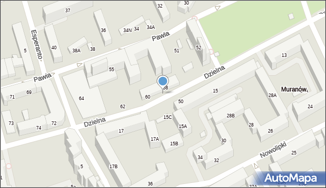 Warszawa, Pawia, 33, mapa Warszawy