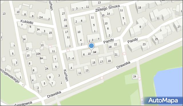 Warszawa, Pandy, 12, mapa Warszawy