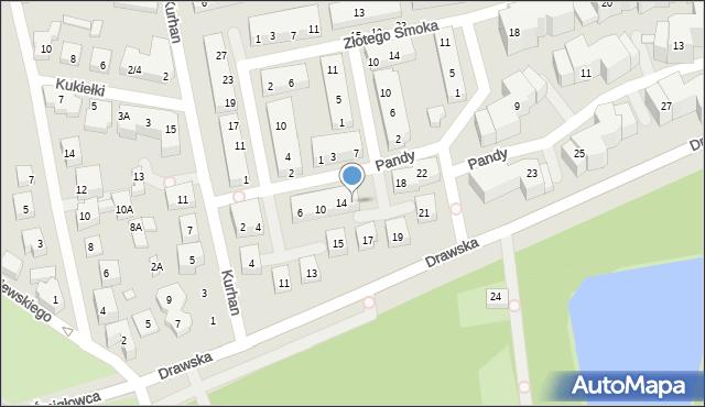 Warszawa, Pandy, 16, mapa Warszawy