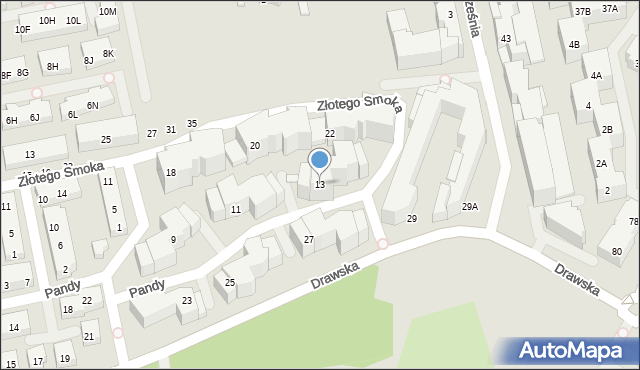 Warszawa, Pandy, 19, mapa Warszawy