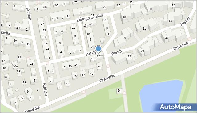 Warszawa, Pandy, 22, mapa Warszawy