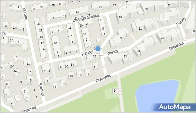 Warszawa, Pandy, 24, mapa Warszawy