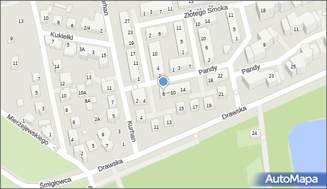 Warszawa, Pandy, 6, mapa Warszawy