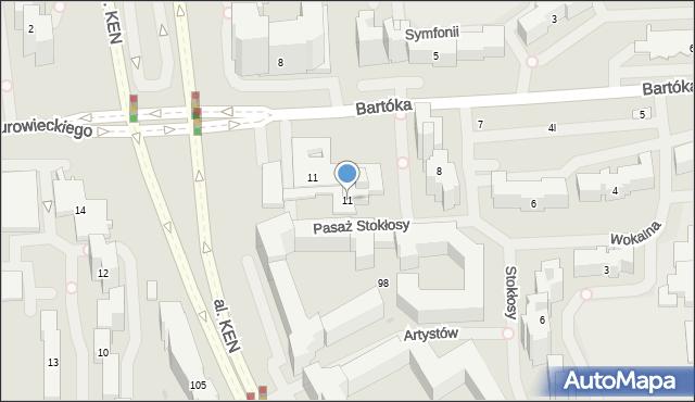 Warszawa, Pasaż Stokłosy, 11, mapa Warszawy