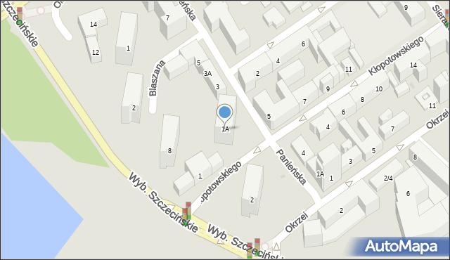 Warszawa, Panieńska, 1A, mapa Warszawy