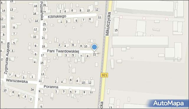 Zabrze, Pani Twardowskiej, 11, mapa Zabrza