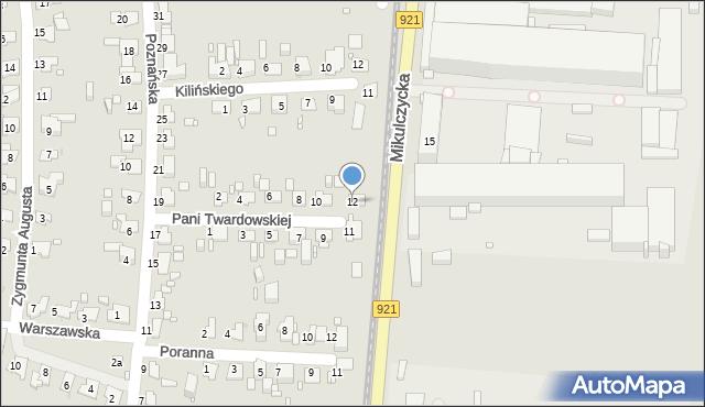 Zabrze, Pani Twardowskiej, 12, mapa Zabrza