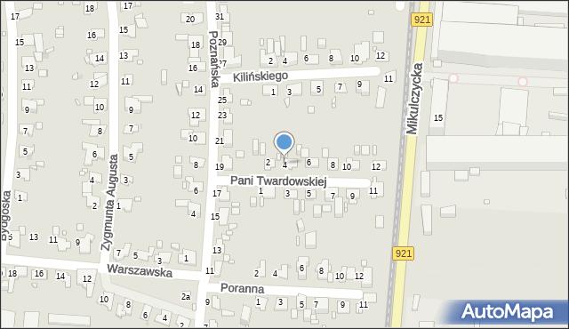 Zabrze, Pani Twardowskiej, 4, mapa Zabrza
