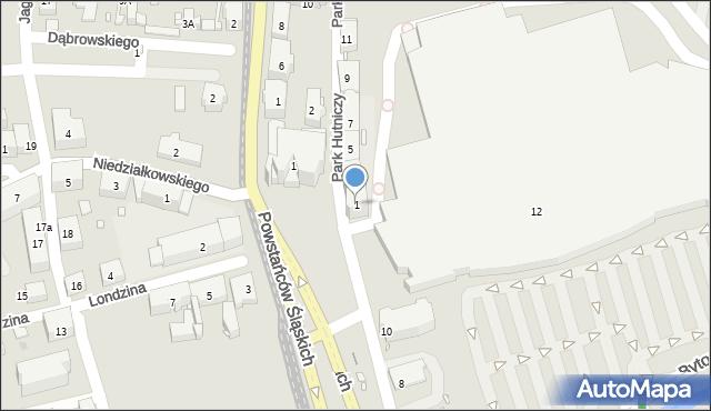 Zabrze, Park Hutniczy, 1, mapa Zabrza
