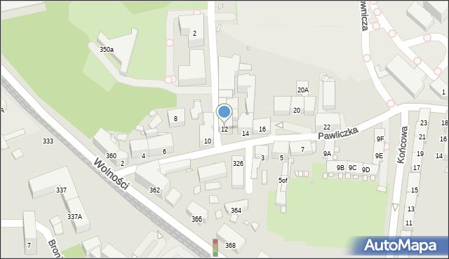 Zabrze, Pawliczka Alojzego, 12, mapa Zabrza