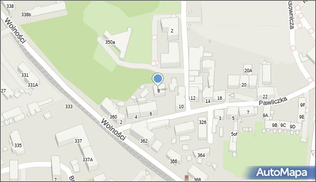 Zabrze, Pawliczka Alojzego, 8, mapa Zabrza