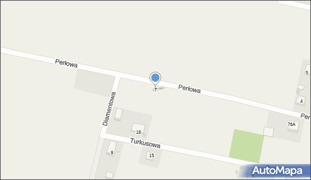 Luzino, Perłowa, 7, mapa Luzino