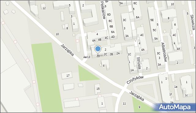 Piaseczno, Pelikanów, 2D, mapa Piaseczno