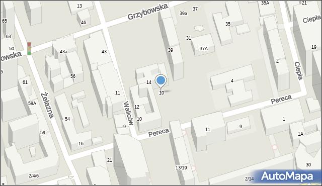 Warszawa, Pereca Icchaka Lejba, 10, mapa Warszawy