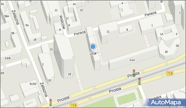 Warszawa, Pereca Icchaka Lejba, 21, mapa Warszawy