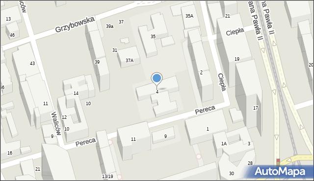 Warszawa, Pereca Icchaka Lejba, 4, mapa Warszawy