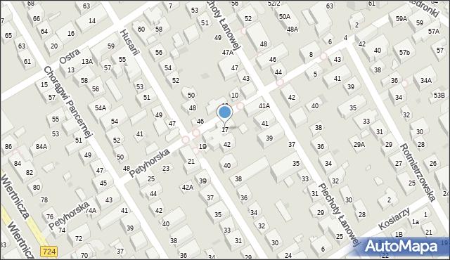 Warszawa, Petyhorska, 17, mapa Warszawy