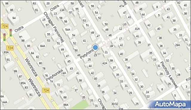 Warszawa, Petyhorska, 23, mapa Warszawy