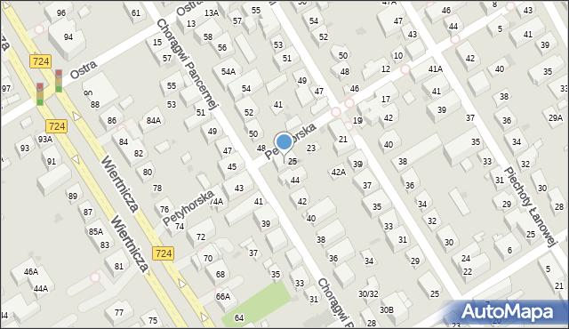 Warszawa, Petyhorska, 27, mapa Warszawy