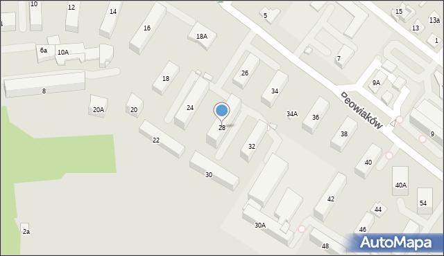 Zamość, Peowiaków, 28, mapa Zamościa