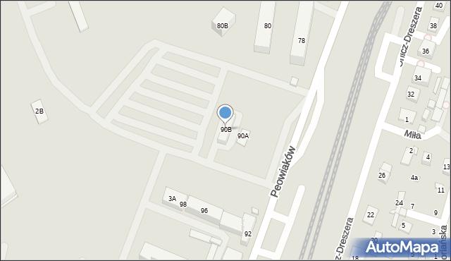 Zamość, Peowiaków, 90B, mapa Zamościa