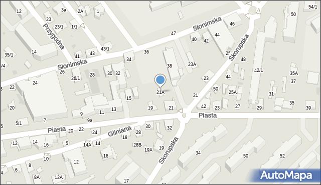 Białystok, Piasta, 21A, mapa Białegostoku