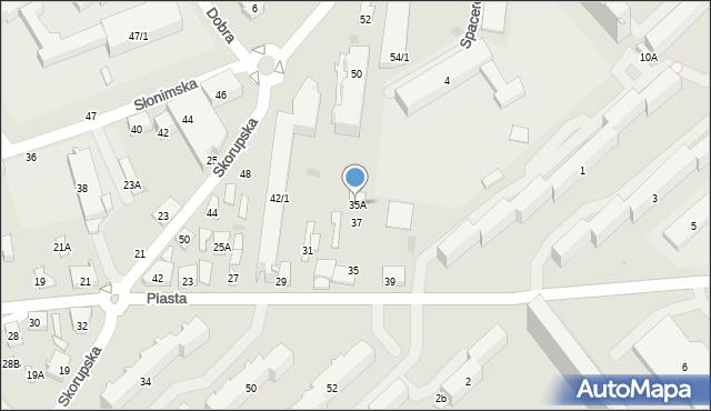 Białystok, Piasta, 35A, mapa Białegostoku