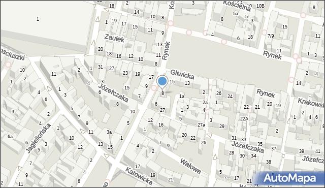 Bytom, Piastów Bytomskich, 8, mapa Bytomia