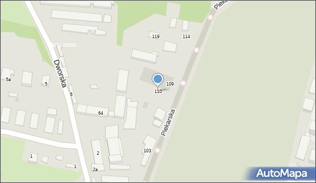 Bytom, Piekarska, 110, mapa Bytomia