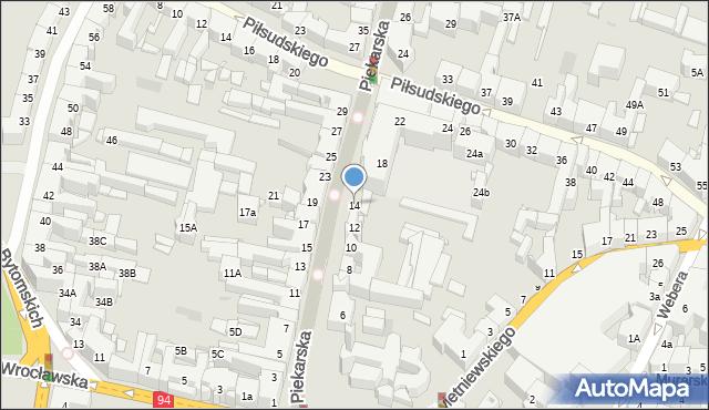 Bytom, Piekarska, 14, mapa Bytomia