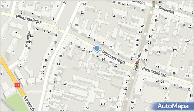 Bytom, Piłsudskiego Józefa, marsz., 14, mapa Bytomia
