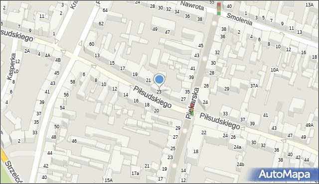 Bytom, Piłsudskiego Józefa, marsz., 23, mapa Bytomia
