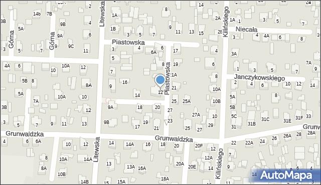 Chełm, Piastowska, 12, mapa Chełma