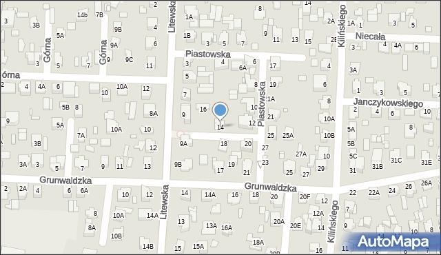Chełm, Piastowska, 14, mapa Chełma
