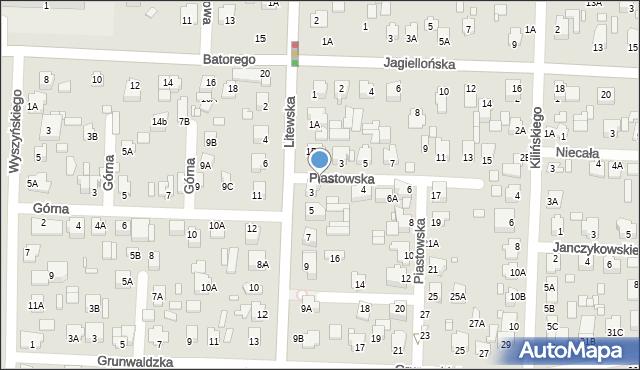 Chełm, Piastowska, 2, mapa Chełma