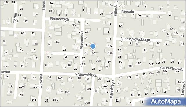 Chełm, Piastowska, 25A, mapa Chełma