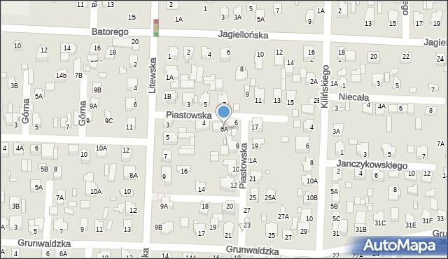 Chełm, Piastowska, 6A, mapa Chełma