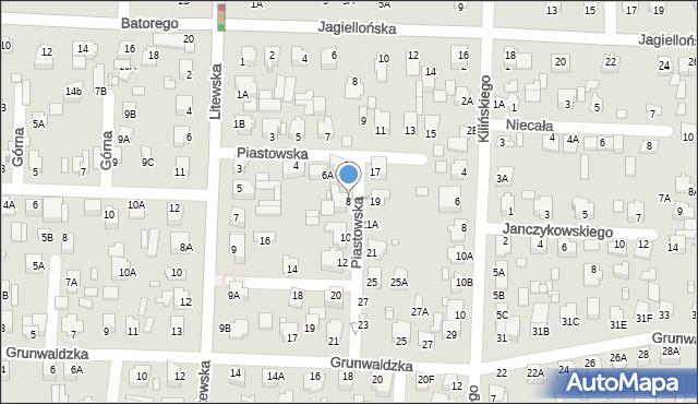 Chełm, Piastowska, 8, mapa Chełma