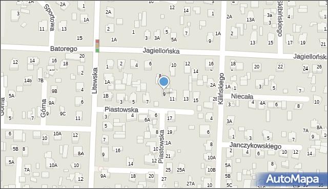 Chełm, Piastowska, 9, mapa Chełma