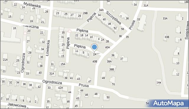 Chełm, Piękna, 1A, mapa Chełma