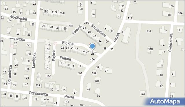 Chełm, Piękna, 2B, mapa Chełma