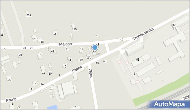 Chełm, Piwna, 2, mapa Chełma