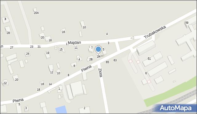 Chełm, Piwna, 2A, mapa Chełma