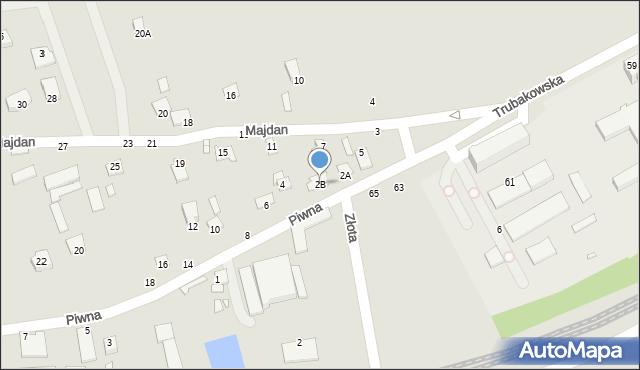 Chełm, Piwna, 2B, mapa Chełma