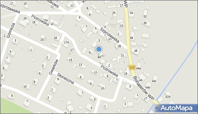 Chocianów, Piotrowska, 4A, mapa Chocianów
