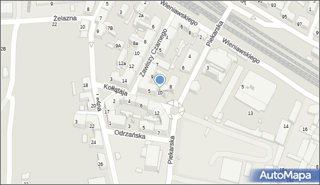 Chorzów, Piekarska, 10, mapa Chorzów